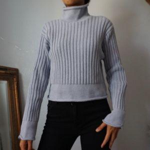 Calvin Klein Turtleneck Cotton Baby Blue Sweater L